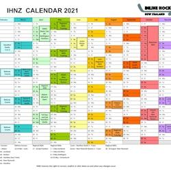 2021 IHNZ Calendar