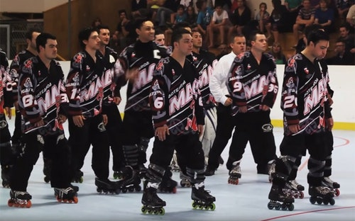 NZ Maori Inline Hockey Team Haka